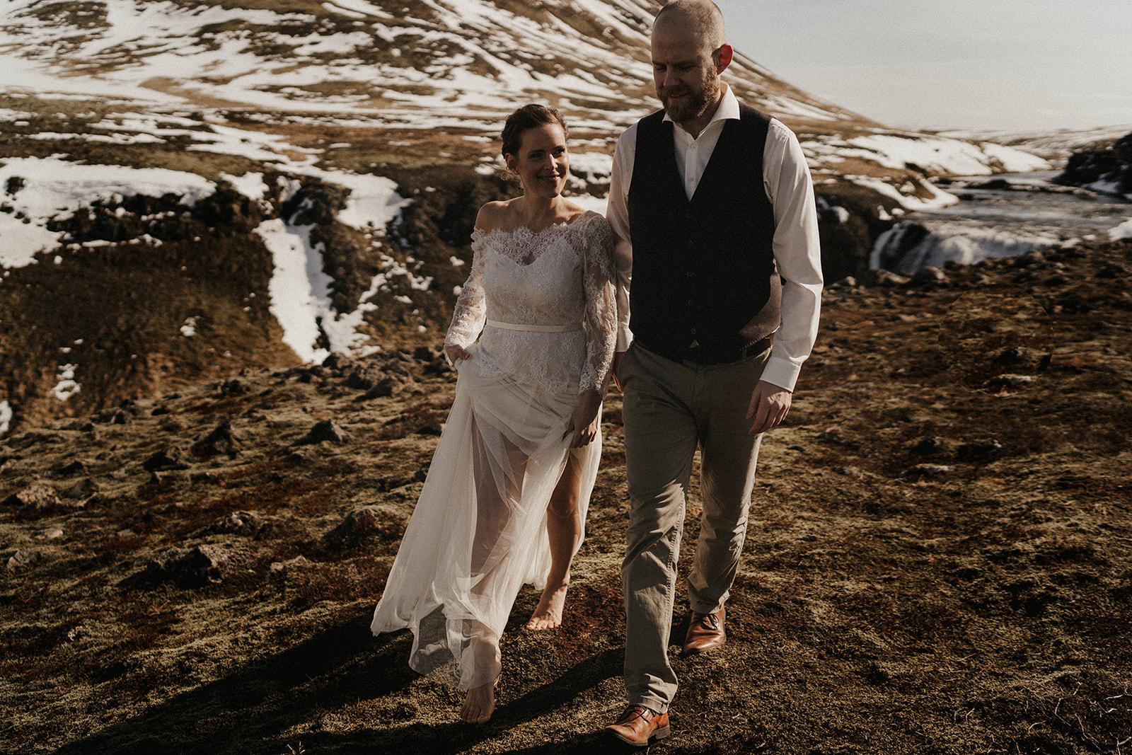 Pinkcolours makeup Iceland wedding