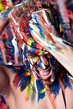 body painting man