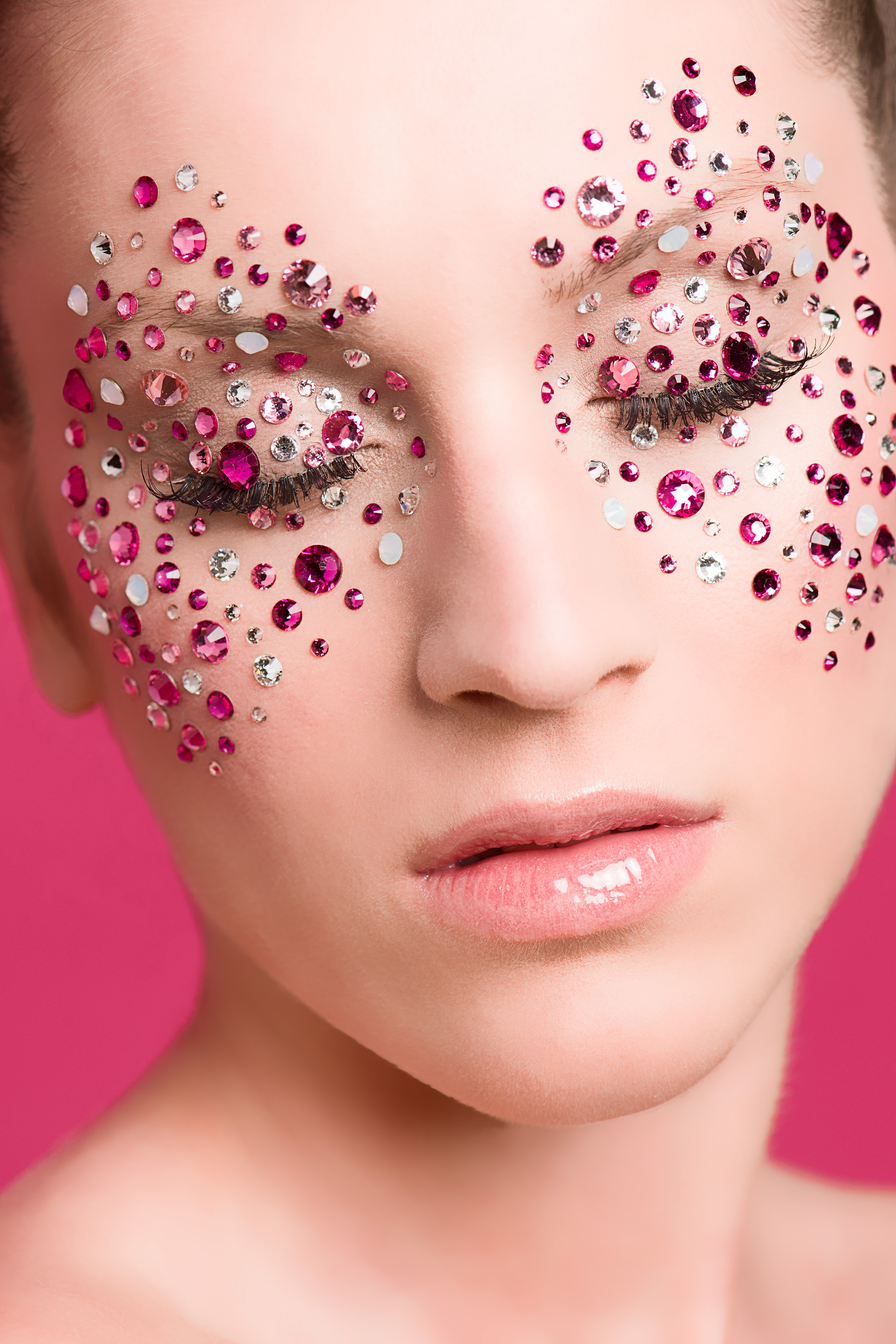 swarovski makeup pink