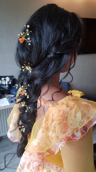 Bridal hair iceland wedding
