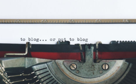 typewriter used as example for written content for blogs