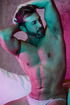 Pablo's contemporary male nude photographs with a style. You would be available to recognize in his work those deep current of passion that allow for an unfettered exploration of human physicality and sexuality