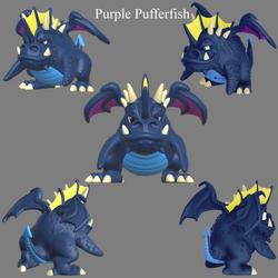 Purple Pufferfish