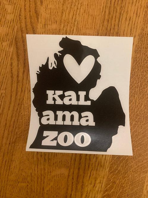 Black Kalamazoo Sticker