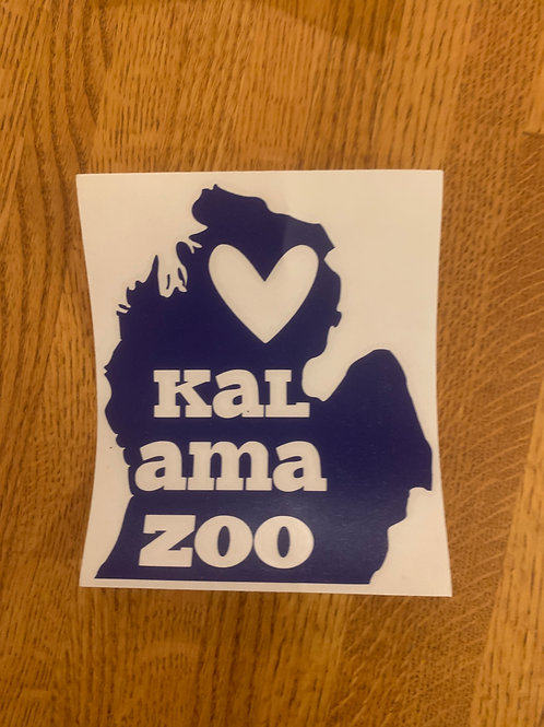 Navy Kalamazoo Sticker