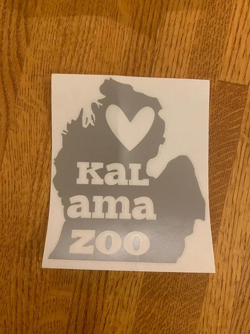 Silver Kalamazoo Sticker