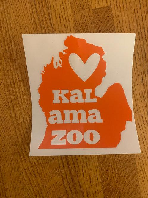 Orange Kalamazoo Sticker