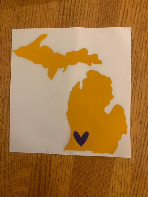 Yellow & Blue Kalamazoo Sticker