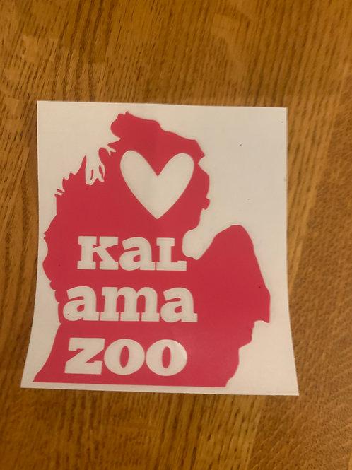 Dark Pink Kalamazoo Sticker