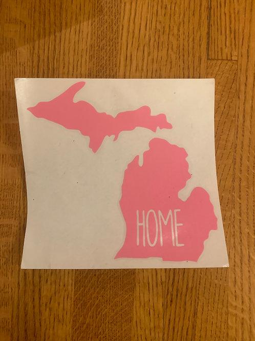 Pink Home Sticker