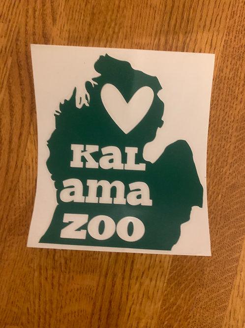 Green Kalamazoo Sticker
