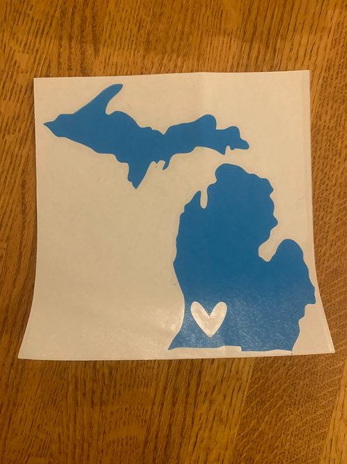 Blue Michigan Sticker