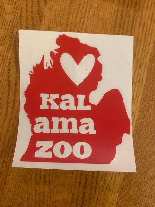 Red Kalamazoo Sticker