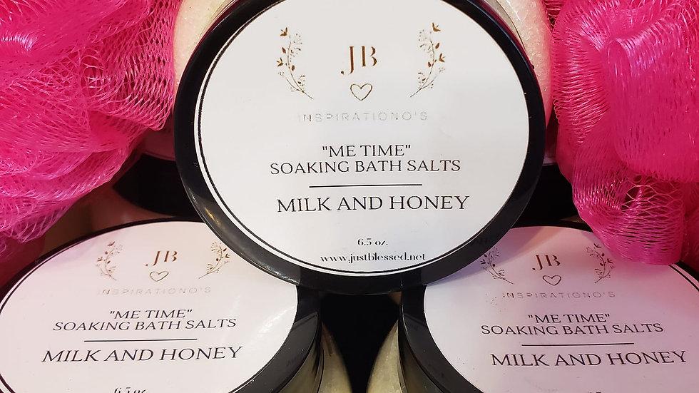 """Me Time"" MIlk and Honey Soaking Bath Salts"