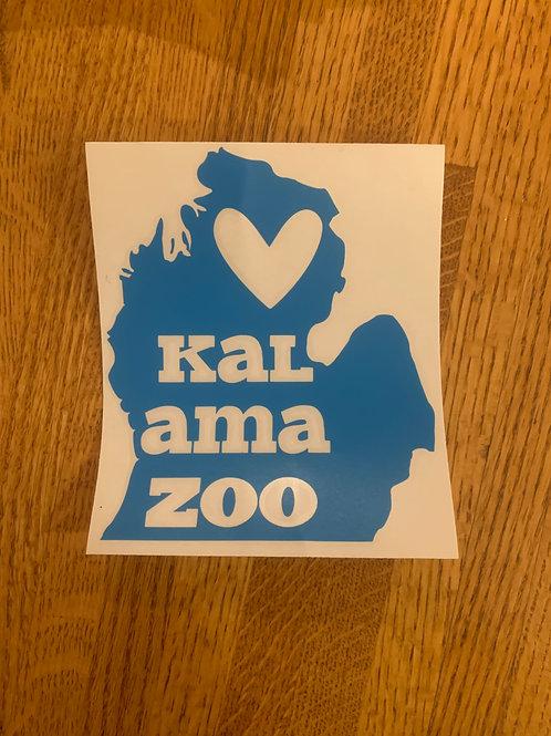 Blue Kalamazoo Sticker