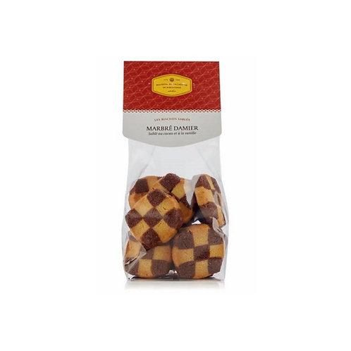 MARBRÉ DAMIER Sablé au cacao et à la vanille