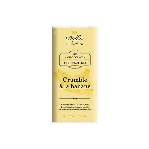 CHOCOLAT NOIR CRUMBLE À LA BANANE
