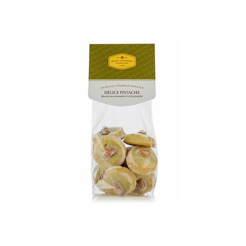 DÉLICE PISTACHE Biscuit aux amandes et à la pistache