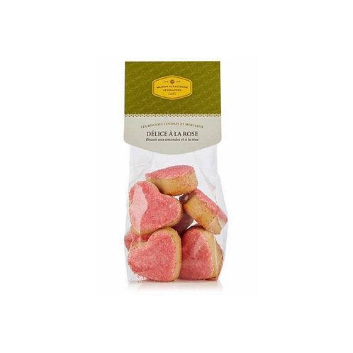DÉLICE À LA ROSE Biscuit aux amandes et à la rose