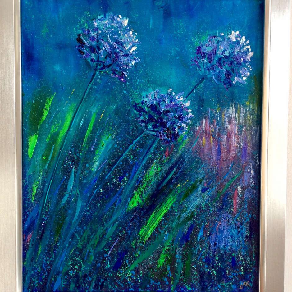 'Pretty in Blue' Lesley Ann Kirkman