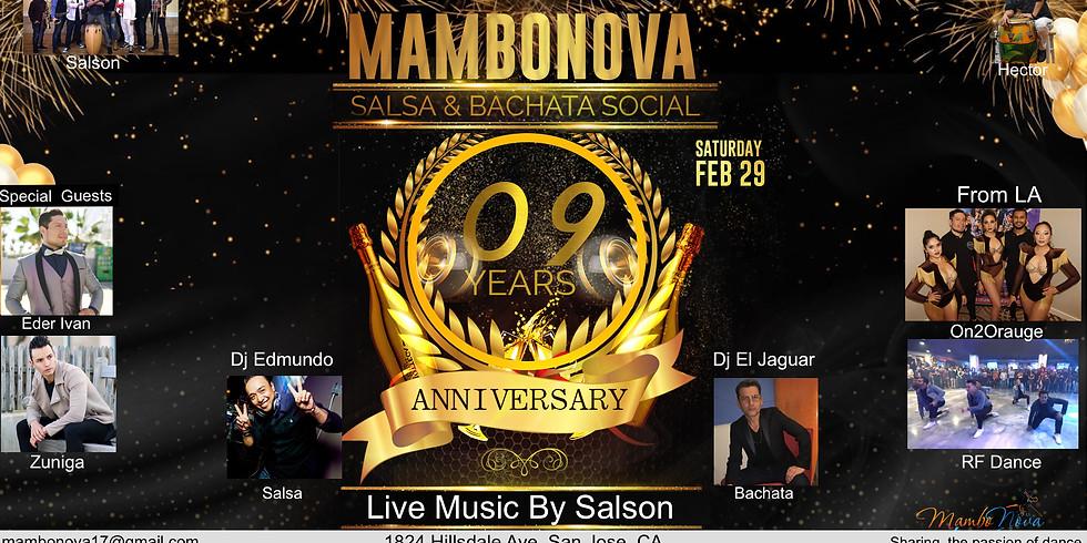 Mambonova 9th Anniversary Salsa & Bachata Social