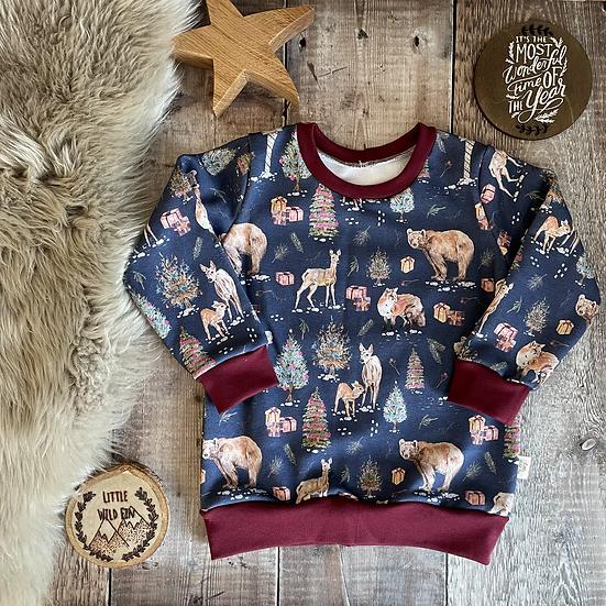 Sweatshirt - (Woodland Wonderland/WINE)