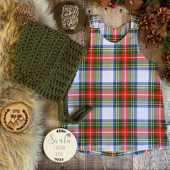 Pinafore Dress - (Tartan)