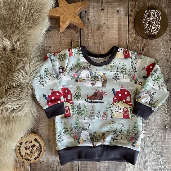 Sweatshirt - (Festive Forest/GREY)