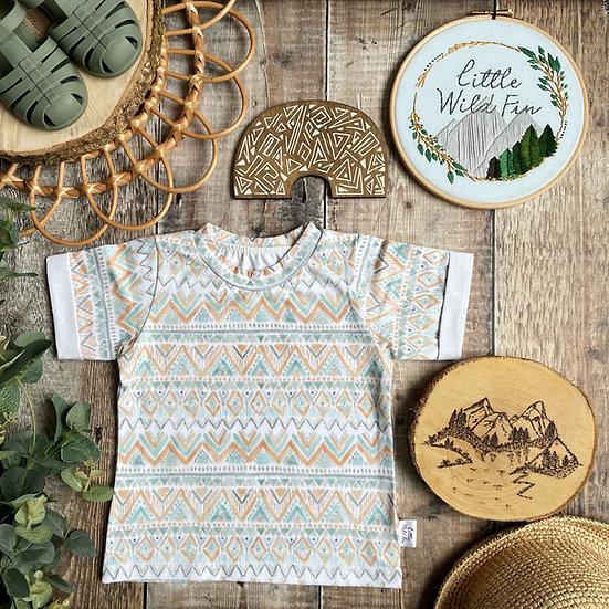 Short Sleeve T-Shirt - (Tribal Ocean)