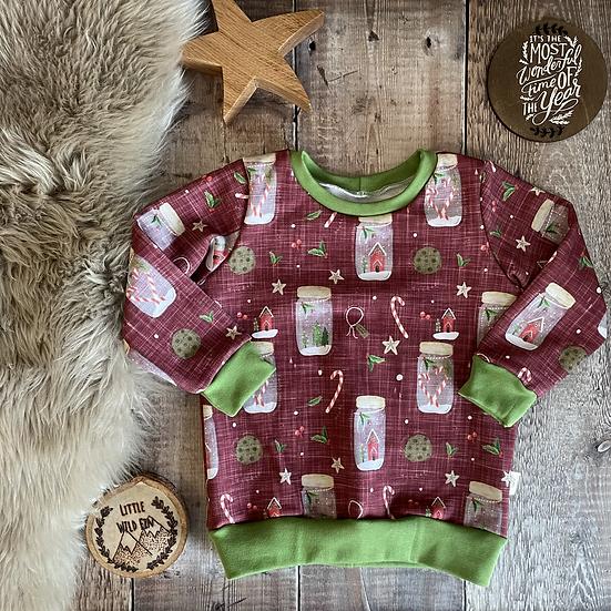 Sweatshirt - (Winter Wishes/GREEN)