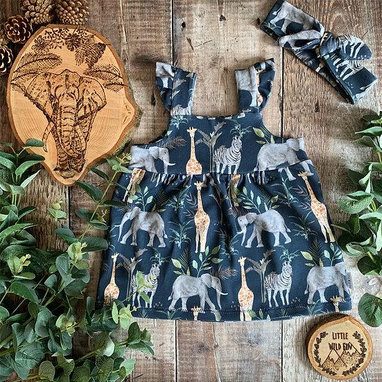 Frilly Strap Dress - (Safari)