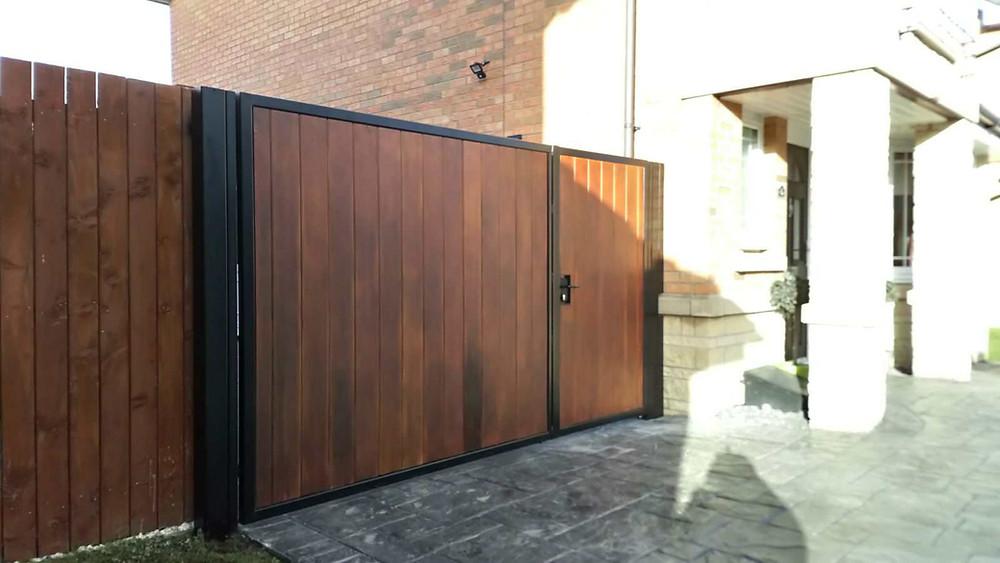 metal framed timber and aluminium gates - across glasgow edinburgh