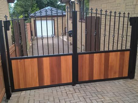 Metal & Timber Driveway Gates Lanarkshire