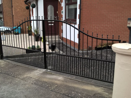 Wrought Iron Automatic Gates - Paisley, Scotland