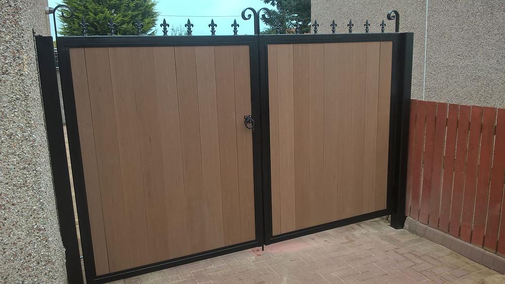 composite infill metal framed gates