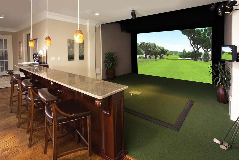indoor golf simulator home