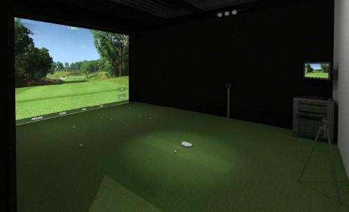 golf simulator for putting
