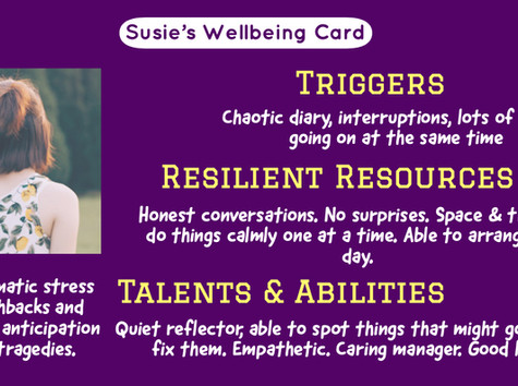 Wellbeing—Show them the Card!