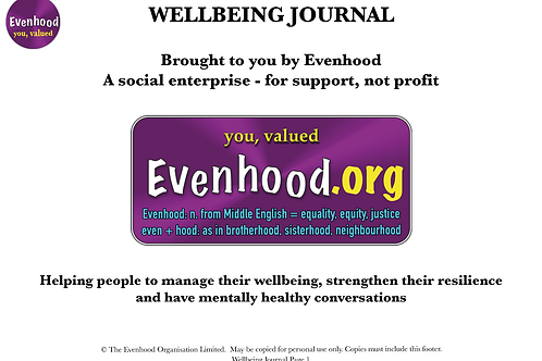 Evenhood's Wellbeing Journal