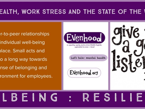 Great article share - Mental Health, Work Stress and the State of the Workplace