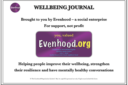 Evenhood's Wellbeing Journal