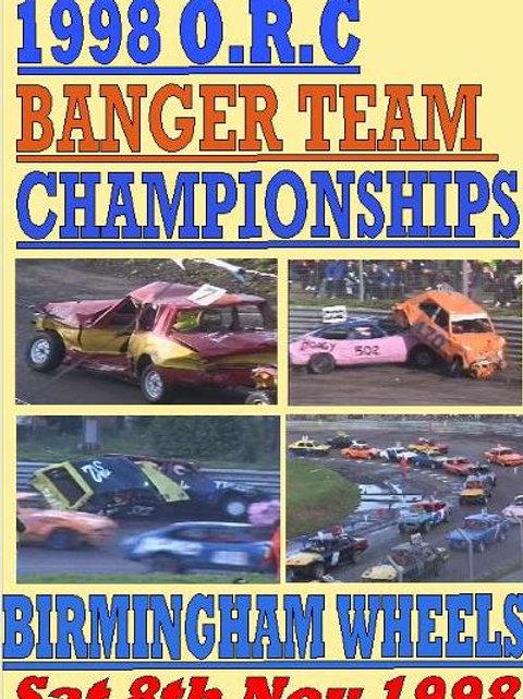 ORC BANGER TEAM CHAMPS 1998-  Birmingham