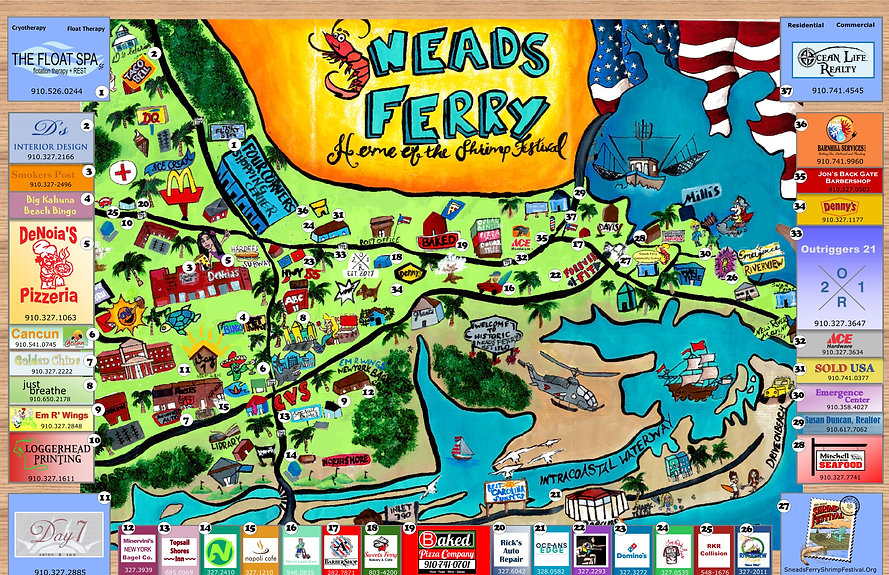 Sneads Ferry Nc Sneads Ferry Fun Map