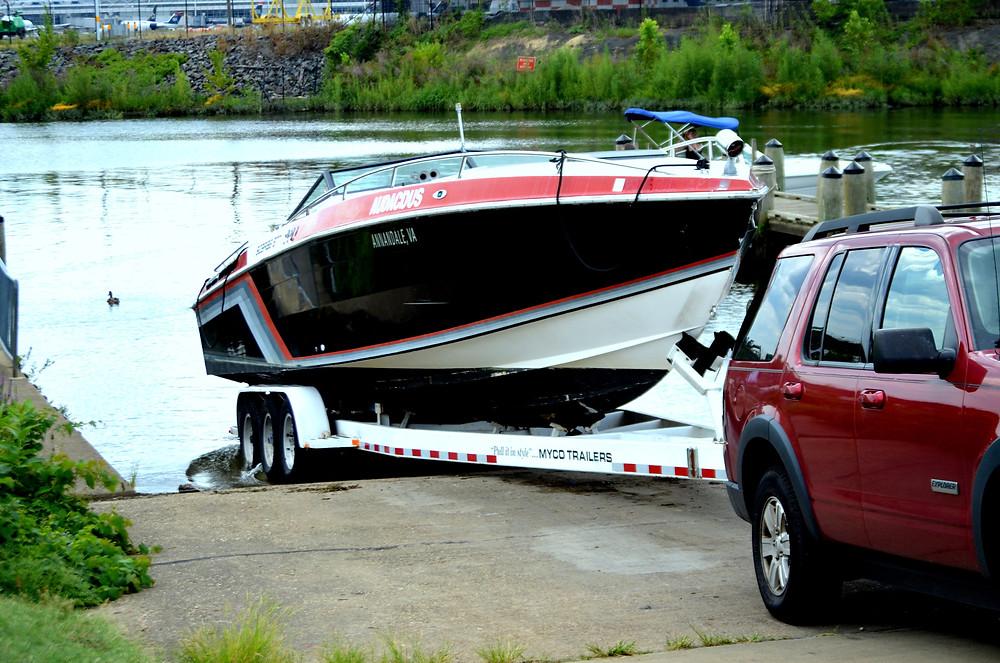 Mise à l'eau bateau