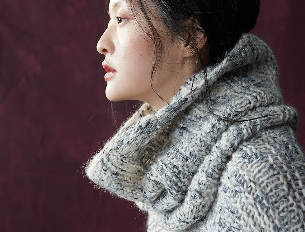 BJ-W122A | Mixed Stitch Pullover