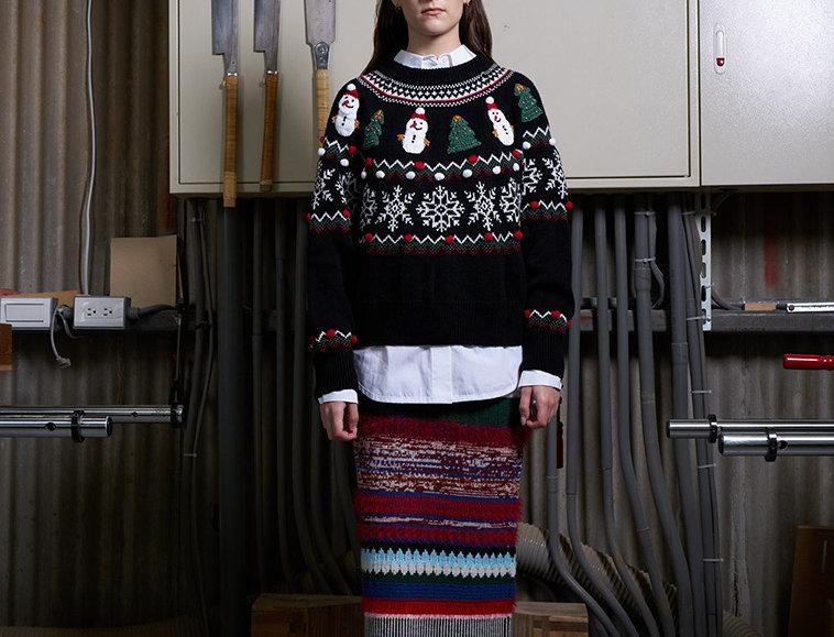 Crochet Patch Christmas Sweater