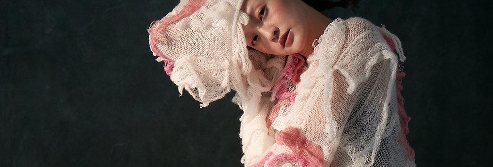 Hand Knit Irregular Ruffles Pullover