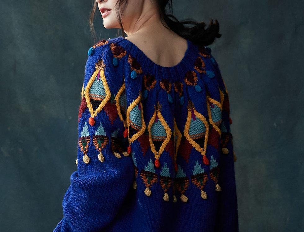 BJ-F281 | Shetland Wool Cable Pullover