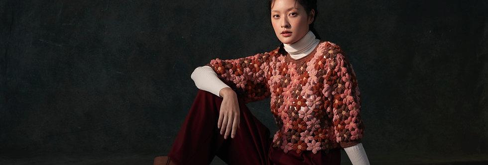Flower Crochet Pullover