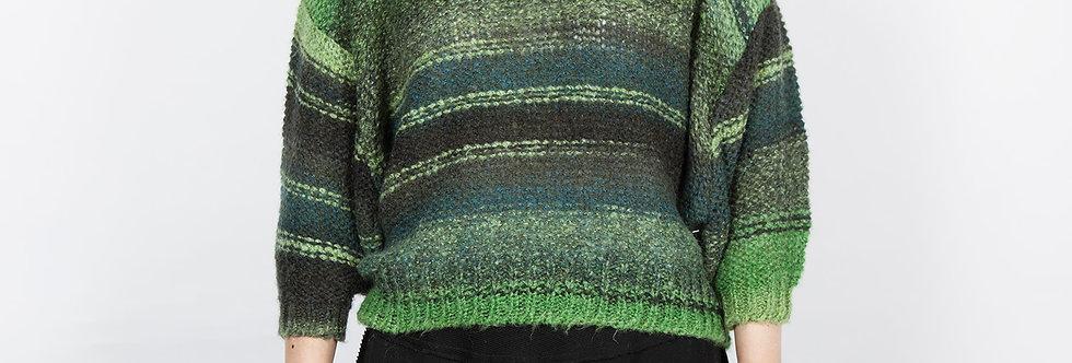 1709-10   Green Stripe Color Change Pullover